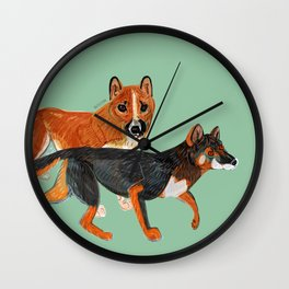New Guinean Singing dog (c) 2017 Wall Clock