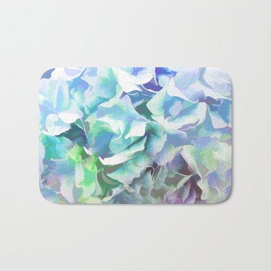 Hydrangea in a Pastel Light Bath Mat