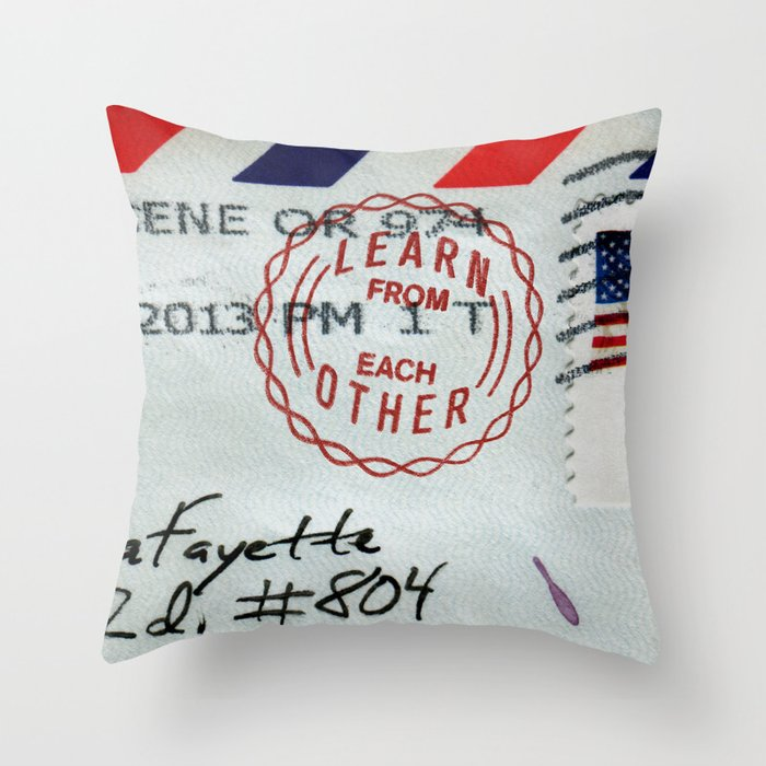Take Care of Each Other, Part 4 Throw Pillow