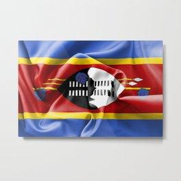 Swaziland Flag Metal Print