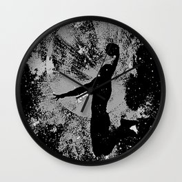 SLAM DUNK IN BLACK AND WHITE Wall Clock