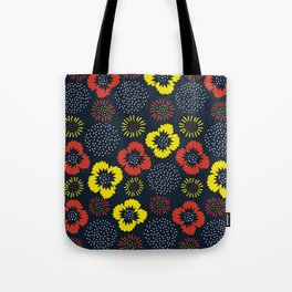 Blooming Wild (red & yellow) Tote Bag