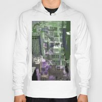 houston Hoodies featuring Downtown Houston by TheBigBear