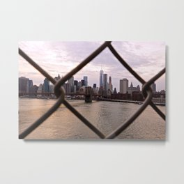 Lower Manhattan framed Metal Print
