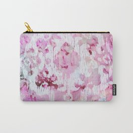 Magenta Ombre Southwest Scrollwork Print Carry-All Pouch