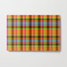 September Fruition Plaid Metal Print