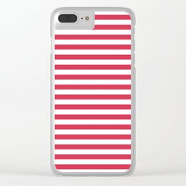 Red white striped Clear iPhone Case