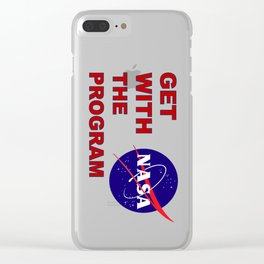 Get With The (Space) Program Clear iPhone Case