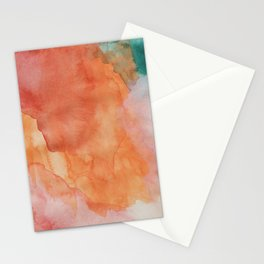 Wynonna (Abstract Gouache Painting) Stationery Cards