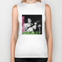 elvis presley Biker Tanks featuring Elvis Presley - Elvis Presley - Pixel Cover by Stuff.