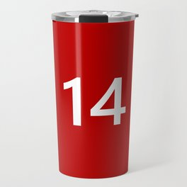 Legendary No. 14 in red and white Travel Mug