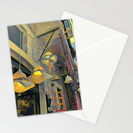 Hat lights in a Market Place Stationery Cards