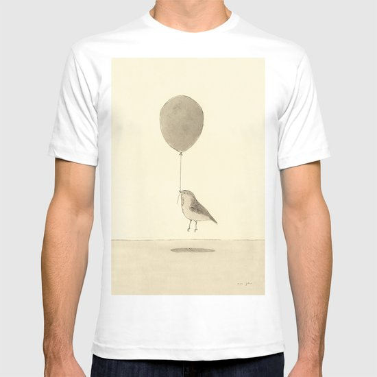 bird with a balloon T-shirt