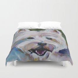 Westie Impressionism Pet Portrait Larsen 1 Duvet Cover