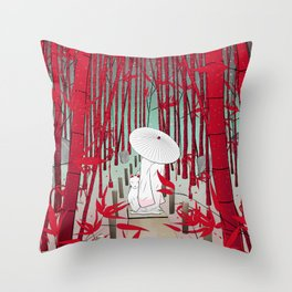 Yuki- onna Throw Pillow
