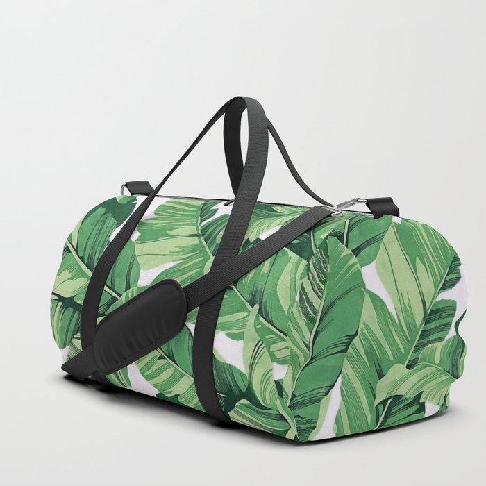 Tropical banana leaves V Duffle Bag