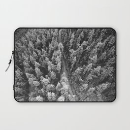 Forest Photography | Woods | Nature | Black and White Laptop Sleeve