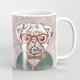 Hipster pug Coffee Mug