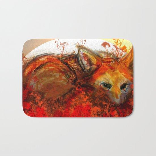 Fox in Sunset III Bath Mat