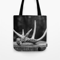 antler Tote Bags featuring Antler by Danielle Fedorshik