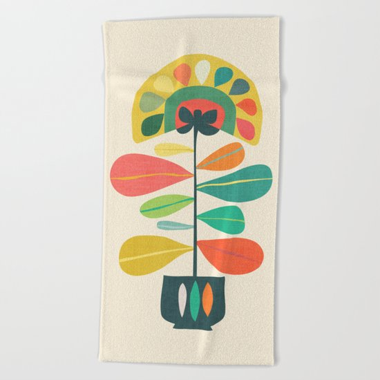 Fan Flower Beach Towel