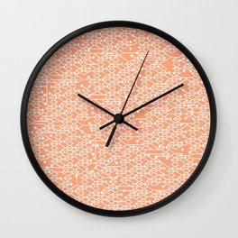 Microchip Pattern (Orange) Wall Clock