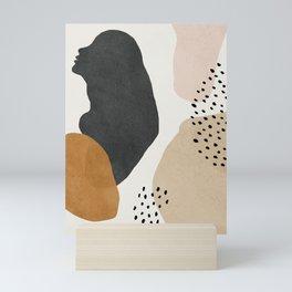 Woman silhouette art, Mid century modern art Mini Art Print