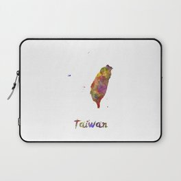 Taiwan in watercolor Laptop Sleeve