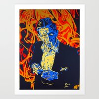 johnny cash Art Prints featuring Johnny Cash by Rich Anderson