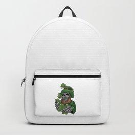 Skull Leprechaun Shamrock St. Patrick's Day Backpack