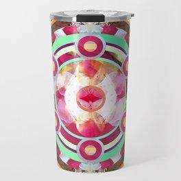 Pink and Turquoise Mandala Travel Mug