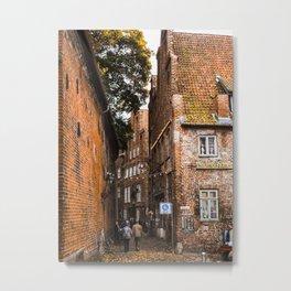 Medieval Streets Metal Print