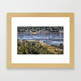 Fort Knox and the Penobscot River Valley Framed Art Print