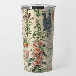 French Vintage Flowers Chart Adolphe Millot Fleurs Larousse Pour Tous Poster  Travel Mug