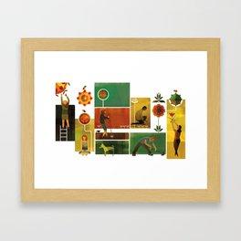 Community Garden Framed Art Print