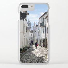 Castelo de Vide street Clear iPhone Case