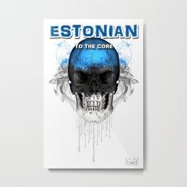 To The Core Collection: Estonia Metal Print