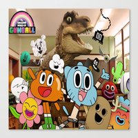 gumball Canvas Prints featuring GUMBALL by rosita