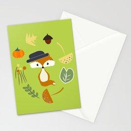 Cute fox in autumn II Stationery Cards