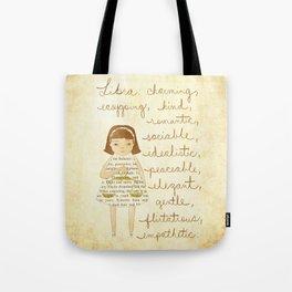 Libra girl Tote Bag