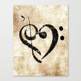 I Heart Music Canvas Print