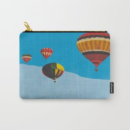 Four Hot Air Balloons Carry-All Pouch