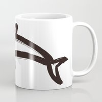 calligraphy Mugs featuring Dolphin calligraphy by FACTORIE