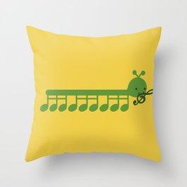 Caterpillar Song Throw Pillow