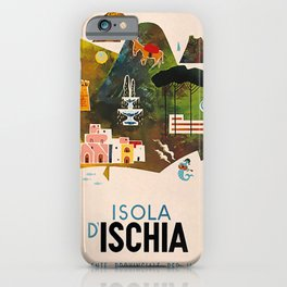Vintage Placard Isola Ischia iPhone Case