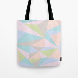 Pastel Triangles Tote Bag