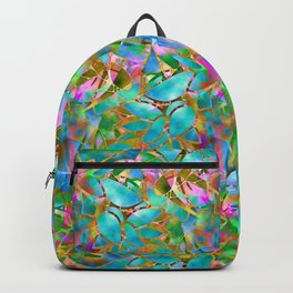 Floral Abstract Stained Glass G265 Backpack