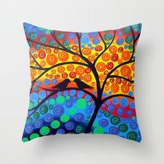 Tree of Joy III Throw Pillow