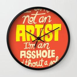 Not an Artist... Wall Clock