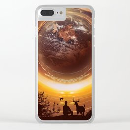 A WORLD OF PEACE Clear iPhone Case
